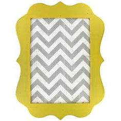 Yellow, White & Gray Chevron Message Board