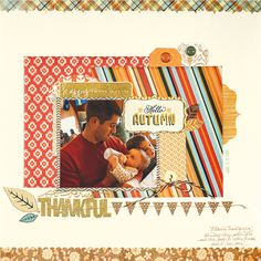 Thankful by Tracey Fox for Scrapbook & Cards Today Magazine - Fall 2016