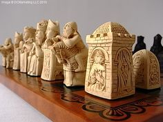 Medieval Chess Sets - Gothic Chess Set - Medieval Chess Pieces
