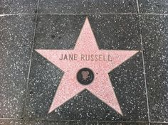 Jane Russell Hollywood Walk of Fame Motion Picture Star