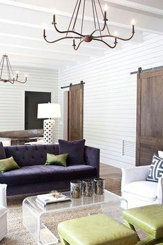 Classic & modern farmhouse living room