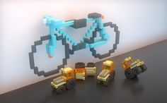 Bike on the wall latest render test