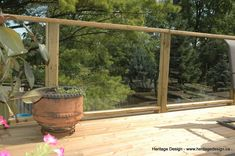 Heritage Design - The Deck and Fence Store is Kitchener Waterloo's leading fence and deck company. Residing in Wilmot, trust Heritage Design for your decking and fencing needs. Wood Railing, Fence, Outdoor Structures, Gallery, Glass, Design, Wood Handrail, Wood Deck Railing, Roof Rack