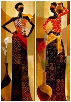 Keith Mallet Amira & Bahiya African Painting
