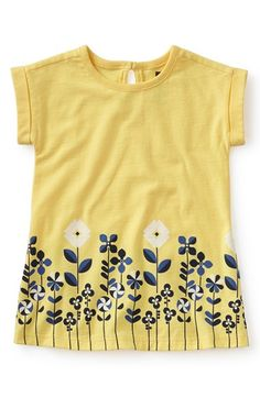Tea Collection 'Zola' Graphic T-Shirt Dress (Baby Girls)