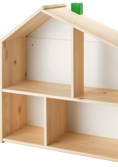 Doll house/wall shelf sourced from IKEA. This doll's house lets your child make a home for their dolls and play with them. DIY Doll House Hack from IKEA wall decor. House Shelves, House Wall, Wall Shelves, Doll House Book Shelf, Dollhouse Shelf, Ikea Dollhouse, Dollhouse Supplies, Wooden Dollhouse, Wooden Dolls