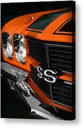 1970 Chevelle Ss396 Ss 396 Orange Canvas Print by Gordon Dean II