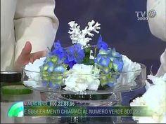 Tutorial - Composizione Floreale Marina Ortensie e Delphinium - YouTube