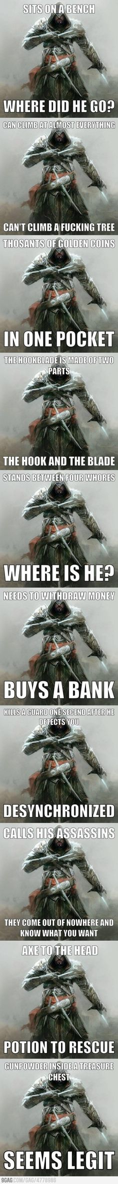 One does not simply finds logic in AC...