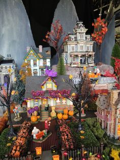tanus lemax d56 halloween village oct 2012 multiple layers of industrial grade styrofoam