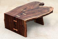 Custom Made Custom Walnut coffee/cocktail table by Aaron Smith Woodworking