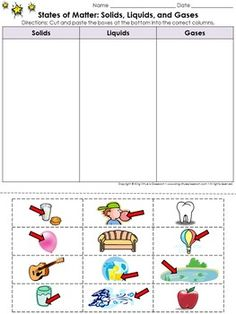 Canada Food Guide Worksheets Pdf Free Printable Phases Of Matter Worksheets  Click Here  Frog Life Cycle Worksheet Cut And Paste Pdf with Mind Map Worksheet Word Matter States Of Matter Cut And Paste Activity   Pictu Free Math Puzzles Worksheets Pdf