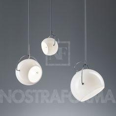 Fabbian Beluga White D57 pendant lamp
