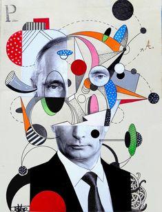 Original Men Collage by Loui Jover Dada Collage, Art Du Collage, Collage Portrait, Digital Collage, Portraits Cubistes, Cubist Portraits, Collages, Pop Art, Dada Art