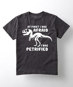 Look what I found on #zulily! Heather Charcoal 'First I Was Afraid' Tee - Toddler & Boys by Cotton Jungle #zulilyfinds