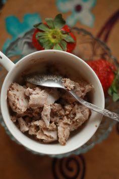 Суров сладолед с две съставки