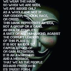 NOVEMBER 5, 2016 ✊ GET YOUR MASKS READY.   Expect us. We are legion, we are YOU.   #Anonymous unite