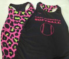 Softball pinnie from Lightning Wear®. Made to order custom jerseys in Maryland USA.
