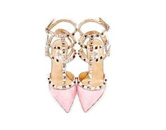 ART PRINT Maison Valentino Rockstud Pink Studded High Heels Print from Watercolor Painting, Fashion Illustration