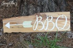 OneofaKind Directional Signs by @ChevvyandRons on Etsy, $20.00 | Summertime is perfect for a #BBQ and is this darling, one-of-a-kind sign! Only $20!!