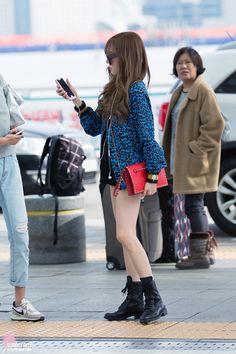 SNSD Tiffany Airport Fashion 150328 2015