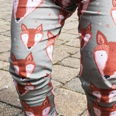 a50503e2eaf8f Organic cotton baby leggings. Meet Oswald the fox! Now available to order:)