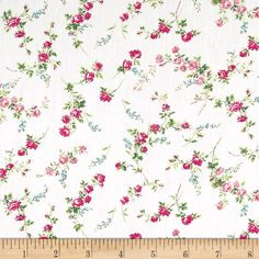 Liberty Fabrics Tana Lawn Elizabeth Pink from @fabricdotcom  From the world famous Liberty Fabrics, this exquisite cotton lawn fabric is finely woven, silky, very lightweight and ultra soft. This gorgeous fabric is oh so perfect for flirty blouses, dresses, lingerie, even quilting. Colors include white, shades of pink, and shades of green.