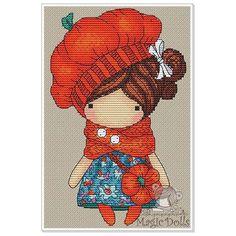 Мила_Вождь_и Екатерина_Гафенко в Instagram: «#mika__mila_katya #crossstitch #cross_stitch #cross #stitch #stitches #вышивка #вышивкакрестом #magic__dolls На свет появились две куколки малышки! Посмотрите какие миленькие. Осенняя представительница - Тыковка. Оранжевая, солнечная. В платьице которое напоминает кусочек то ли моря, то ли неба осеннего.))»