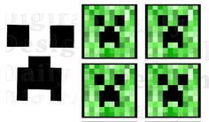 Minecraft Creeper Printable Minecraft Cree Creeper Face