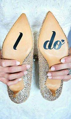 e5436da93598 I Do Shoe Sticker Wedding Vinyl Decal We do this   All American Decals