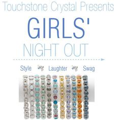 Girls Night Out!!!! Book your in-home or virtual party to get Free Jewelry while having some fun!   Www.touchstonecrystal.com/jennifercorallo