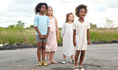 """From left, Jonshel Alexander, Kaliana Brower and Amber Henry join Quvenzhané Wallis on """"Beasts of the Southern Wild,"""" directed by Benh Zeitlin. - NYTimes.com"""