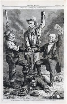 """This is a White Man's Government,"" Harper's Weekly, September 5, 1868, by Thomas Nast."