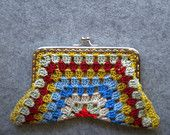 Crochet Purse - half hexagon shape crochet purse
