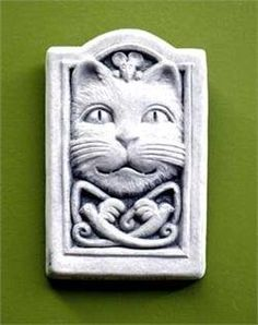 "Cast Stone Celtic Pattern Kitten Cat, Feline, Mouse, Mice, Flying Birds - Collectible Plaque - Concrete Sculpture - Designer White Finish by Creative Structures. $24.45. Hand Cast Stone, Weatherproof & Waterproof, Handfinished With A Designer White Finish To Accentuate The Details. Dimensions: 3"" W x 4.75"" H x 0.75"" D - Item Weight: 1 Lbs. - Made In The USA - Designer White Finish. A Copper Hook Is Embedded In The Back For Hanging Or Display It On An Easel For A Beautiful Tablet..."
