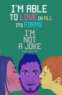 I'm Not a Joke is a campaign spreading awareness for the LGBT community through art and design, created by Daniel Arzola (@Arzola_d) for the school of Visual Arts Rafael Monasterios in light of the recent violent acts against the sexually diverse community in Venezuela. It initially seeks to expand in the online community.