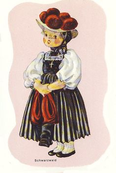 Traditional Costume of a Girl in the Black Forest, Germany