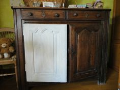 Buffet, Decoration, Ikea, Shabby Chic, Cabinet, Storage, Painting, Furniture, Tables