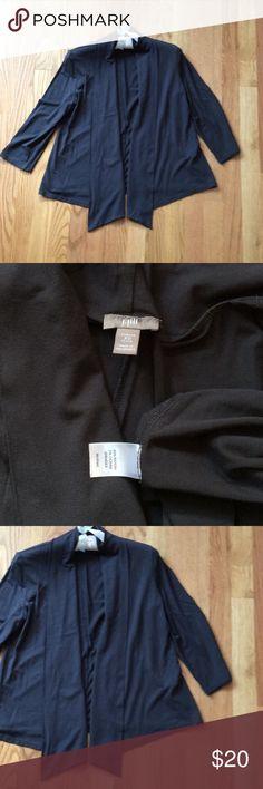 J.Jill Wearever open front cardigan. Gray! J.Jill Wearever open front cardigan in gray. 95% rayon and 5% Lycra Spandex. More short than long in length. Easy wear, easy care! J. Jill Tops