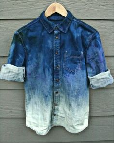 Bleached jean jacket<3