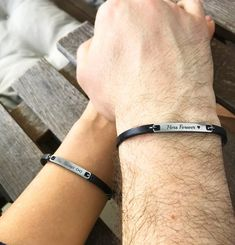Bracelets Assortis Pour Couple, Couple Bracelets Leather, Bracelet Couple, Matching Couple Bracelets, Love Bracelets, Jewelry Bracelets, Bracelets For Couples, Couple Jewelry, Leather Jewelry