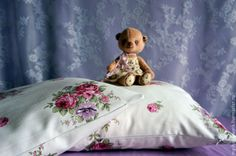"""Купить Наволочки на подушки """"Романтика"""" - белый, розовый, шебби-шик, шебби шик, шебби стиль"""