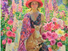 Two Cats by Russian artist Olga Suvorova Russian Art, Russian Icons, Woman Painting, Beautiful Paintings, Cat Art, Painting Inspiration, Impressionism, Female Art, Amazing Art