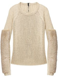 Reed Krakoff Fur-Embellished Sweater      Fall Clothes and Accessories 2012 - New Fall Looks 2012     - Marie Claire