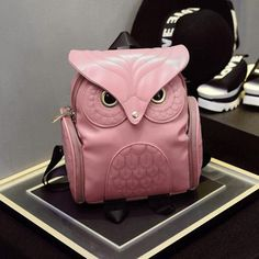 Women Owl Backpack, Synthetic Leather