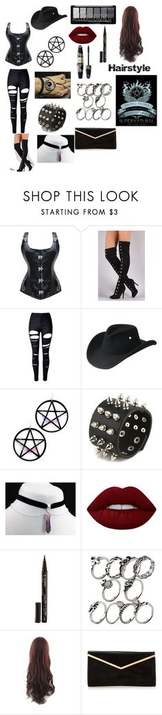 """""""Encounter with the Winchesters"""" by beautyria03 on Polyvore featuring WithChic, Bailey Western, Marina Fini, Lime Crime, Smith & Cult, Max Factor and supernatural"""