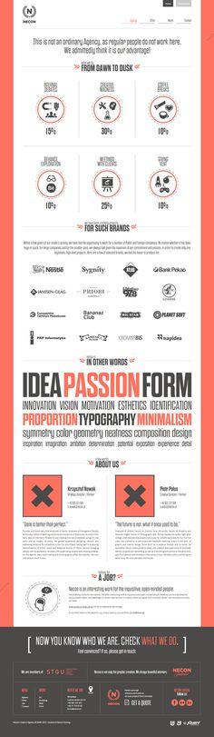 Necon Creative Agency / Website by Necon , via Behance