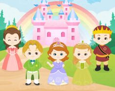 Princess Digital Clipart Princess Clipart Princess por Cutesiness