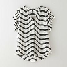 Silk Stripe Top (http://www.stevenalan.com/S14_NA_S14_WT0089.html?dwvar_S14__NA__S14__WT0089_color=OPEN+WHITE#cgid=womens-whats-new-new-arrivals&start=12&sz=12&frmt=ajax&start=12&hitcount=85&t=linkshare&utm_source=LS&utm_medium=affiliateUS&utm_campaign=QFGLnEolOWg&siteID=QFGLnEolOWg-WGmQilgphZcLJ5a8mPj_Jg)