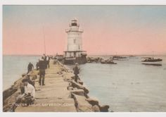 It is SAYBROOK'S HISTORIC BREAKWATER Lighthouse located where Connecticut River meets the Sound.  And as one of Connecticut's 20 lighthouses, it is scheduled to be sold to the highest bidder sometime in the fall. The new owner will be responsible for maintaining a well-known and popular historic landmark.